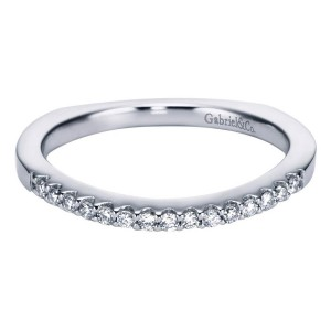 Gabriel 14 Karat Contemporary Wedding Band WB6566W44JJ