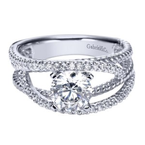 Gabriel 14 Karat Contemporary Engagement Ring ER5363W44JJ
