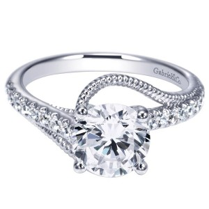 Gabriel 14 Karat Contemporary Engagement Ring ER9043W44JJ
