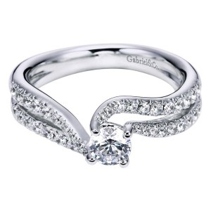 Gabriel 14 Karat Contemporary Engagement Ring ER96115W44JJ
