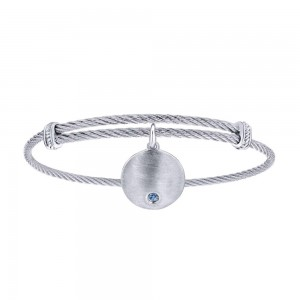 Gabriel Fashion Silver Two-Tone Soho Bangle Bracelet BG3573MXJSB