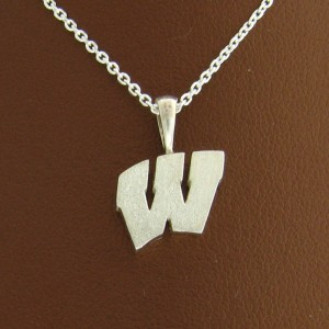 "UW Motion ""W"" Sterling Silver Pendant - Small"