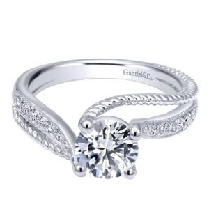 Gabriel 14 Karat Contemporary Engagement Ring ER10259W44JJ