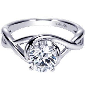 Gabriel 14 Karat Contemporary Engagement Ring ER9179W4JJJ