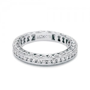 Tacori Platinum Crescent Silhouette Wedding Band HT2326SMB