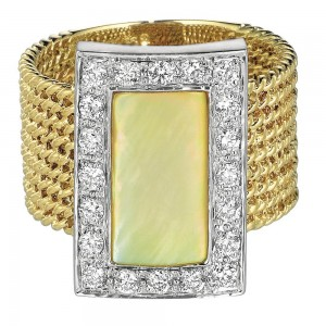 Gabriel Fashion 14 Karat Two-Tone Hampton Color Ladies' Ring LR4680M45YM