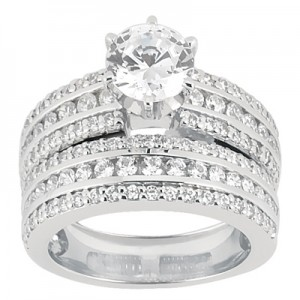 Taryn Collection Platinum Diamond Engagement Ring TQD A-8461