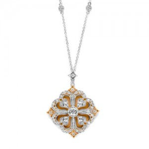 Tacori Diamond Necklace Platinum Fine Jewelry FP667