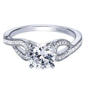 Gabriel 14 Karat Contemporary Engagement Ring ER7802W44JJ