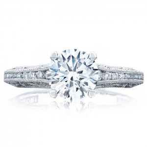 Tacori 2617RD7 18 Karat Reverse Crescent Engagement Ring