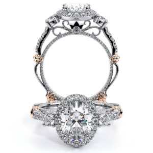 Verragio Parisian-122OV Platinum Engagement Ring