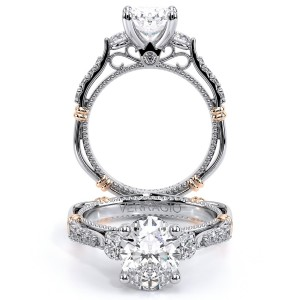 Verragio Parisian-124OV Platinum Engagement Ring