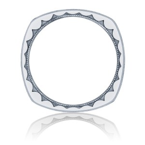 136-6WH Platinum Tacori Sculpted Crescent Wedding Ring