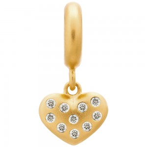 Endless Jewelry White Million Heart Drop Gold Plated Charm 53650-2