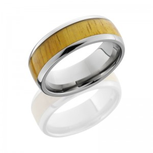 Lashbrook HW8D15/OSAGEORANGE POLISH Hard Wood Wedding Ring or Band