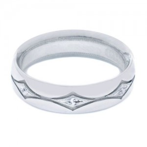 Tacori 996WE Platinum Crescent Wedding Band