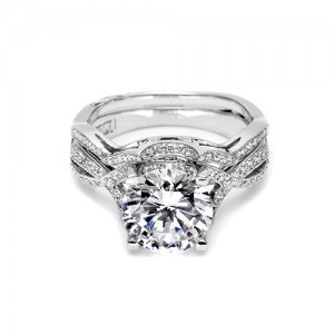 Tacori Platinum Crescent Silhouette Wedding Band 2565B