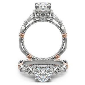 Verragio Parisian-154R Platinum Engagement Ring