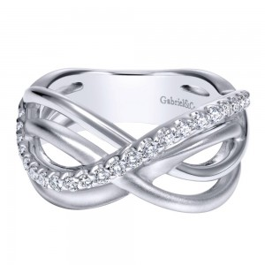 Gabriel Fashion Silver Contemporary Ladies' Ring LR50464SVJWS