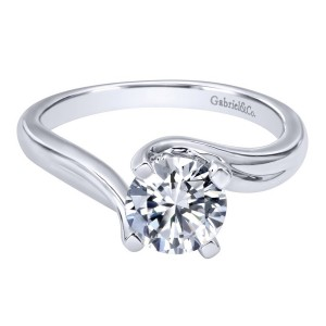 Gabriel 14 Karat Contemporary Engagement Ring ER10200W4JJJ