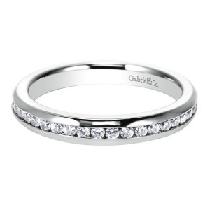 Gabriel 14 Karat Contemporary Wedding Band WB6592W44JJ