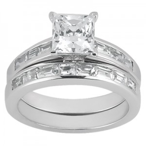 Taryn Collection Platinum Diamond Engagement Ring TQD A-512
