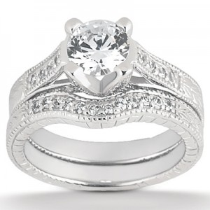 Taryn Collection Platinum Diamond Engagement Ring TQD A-5101