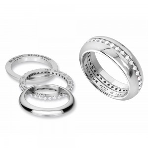Kretchmer 18 Karat Inner Secrets Eternity Halo Ring