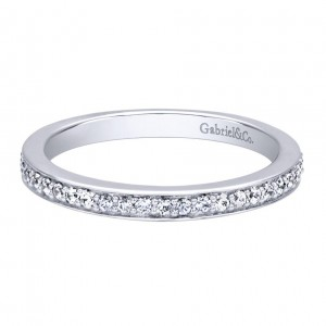 Gabriel 14 Karat Contemporary Wedding Band WB9770W44JJ