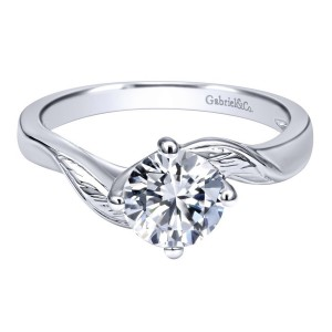 Gabriel 14 Karat Contemporary Engagement Ring ER10253W4JJJ