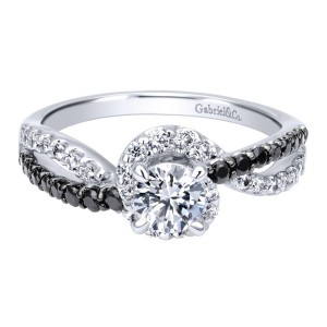 Gabriel 14 Karat Contemporary Engagement Ring ER911938R0W44BD