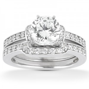 Taryn Collection Platinum Diamond Engagement Ring TQD A-4371