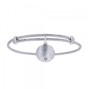Gabriel Fashion Silver Two-Tone Soho Bangle Bracelet BG3573MXJPZ