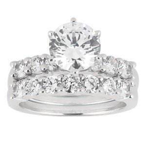 Taryn Collection Platinum Diamond Engagement Ring TQD A-7301