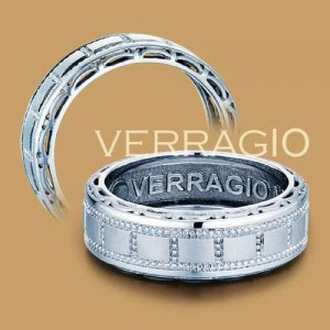 Verragio Platinum Wedding Band MP-8001