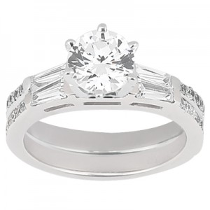 Taryn Collection Platinum Diamond Engagement Ring TQD A-0011