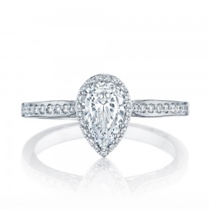 2620PS8X5P Platinum Tacori Dantela Engagement Ring