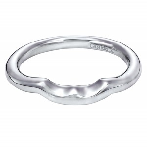Gabriel Platinum Contemporary Wedding Band WB5995PTJJJ