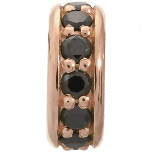 JLo Collection Endless Jewelry Black Dreamy Dot Rose Gold Charm 2600-2