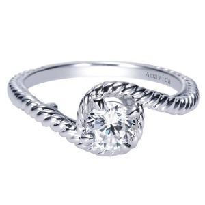 Gabriel 14 Karat Contemporary Engagement Ring ER8847W4JJJ