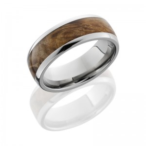 Lashbrook HW8D15/MAPLEBURL POLISH Hard Wood Wedding Ring or Band