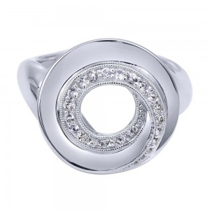 Gabriel Fashion Silver Contemporary Ladies' Ring LR50163SVJWS