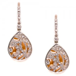 Tacori Diamond Earrings 18 Karat Fine Jewelry FE624