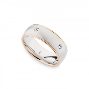 244781 Christian Bauer 14 Karat Two-Tone Wedding Ring / Band