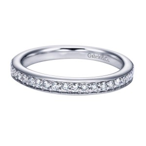 Gabriel 14 Karat Contemporary Wedding Band WB6573W44JJ