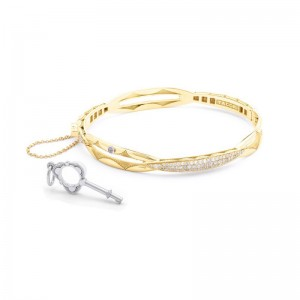 SB192Y-M Tacori Promise Bracelet Oval Yellow Gold with Pavé Diamonds