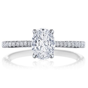 Tacori 2671OV75X55 Platinum Simply Tacori Engagement Ring