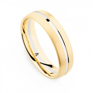 274435 Christian Bauer 18 Karat Two-Tone Wedding Ring / Band