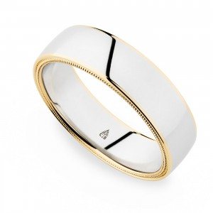 274441 Christian Bauer 18 Karat Two-Tone Wedding Ring / Band