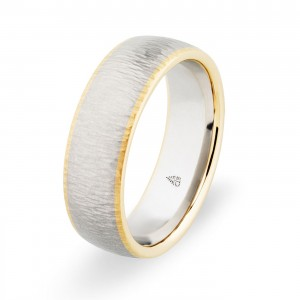 274463 Christian Bauer 18 Karat Two-Tone Wedding Ring / Band